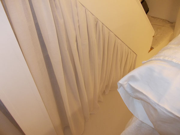 Voile Curtains Round The Wall Soften This North London