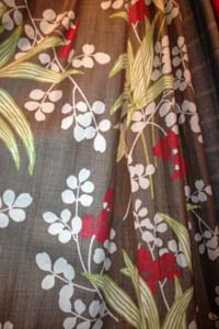 Interlined door curtain in Designer Fabric