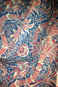 Interlined door curtain in Designer Fabric - William Morris from Sanderson