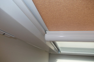 Nano blinds, neat and discreet white frames installed in North London