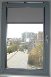 nano blind in blackout fabric installed in Islington North London
