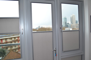 Nano blinds overlooking Canary Wharf in Docklands
