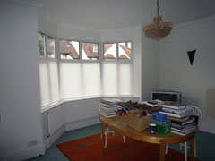 bottom up blinds on UPVC windows Golders Green