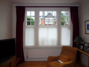 Bottom Up roller blinds fitted in Friern Barnet