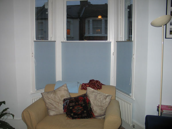 Bottom Up roller blinds fitted in Islington North London
