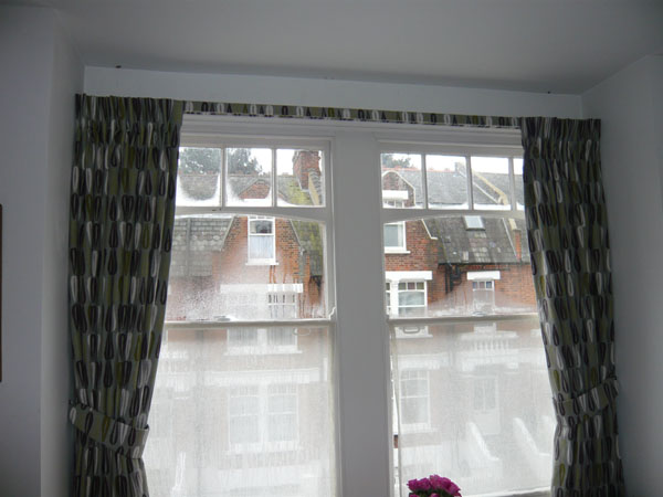 blackout curtains and covered fascia