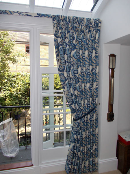 sanderson curtains with covered fascia