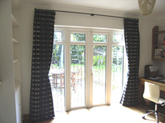 pinch pleat curtains on a 19mm pole Highgate