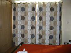 Eyeletted curtains with blackout lining Totteridge