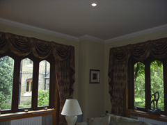 curtains with swags and tails Highgate