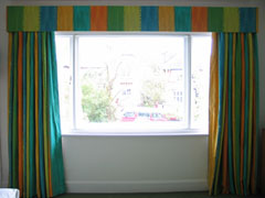 Interlined and blackout curtains and pelmet Highgate