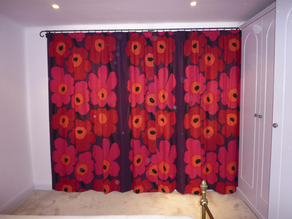 Marimekko flowers, bright and cheerful, interlined and blackout