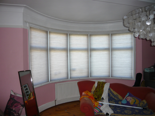 Bottom Up - Top Down  Luxaflex duette blinds fitted in North London