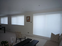 White duette blinds Hendon