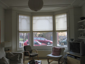 Roller blinds with shaped bottoms Finchley