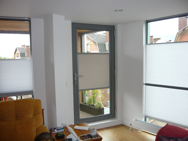 Luxaflex Nano blind fitted to a door in London