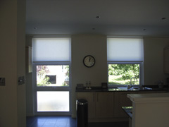 simple hessian roller blinds Swiss Cottage