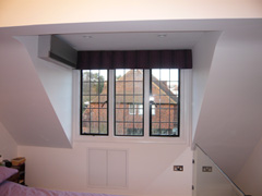 blackout roman blind with control chain Hampstead Garden Suburb