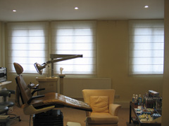 unlined roman shade blinds West End