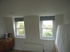 roman blinds on dormer windows Crouch End