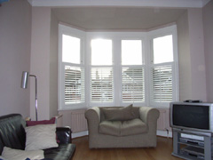 half height shutters giving full privacy Muswell Hill