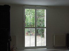 Full height door panels with 63mm louvres Tufnell Park