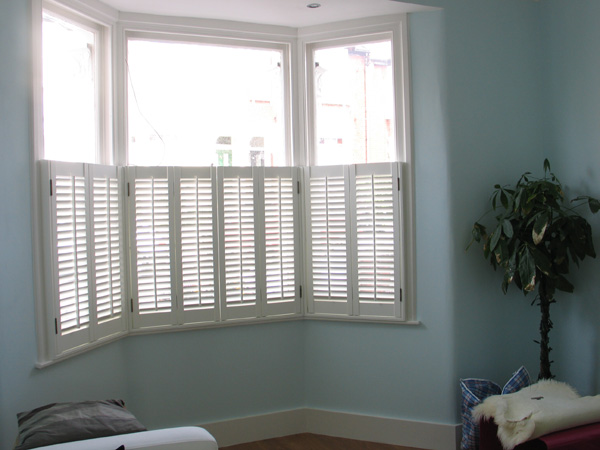 Cafe height shutters provide privacy and perceived security with 47mm louvres