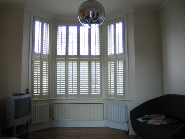 Pearl shutters 47mm louvres, tier on tier