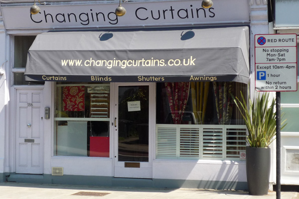 Changing Curtains shopfront