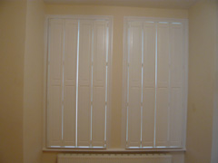 Solid panel bi-fold shutters Highgate