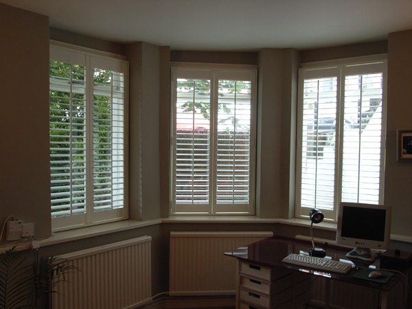 MDF shutters with 63mm louvers