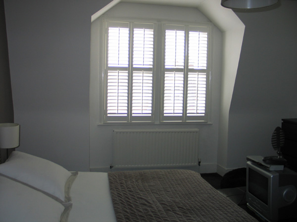 MDF shutters with 64mm louvres