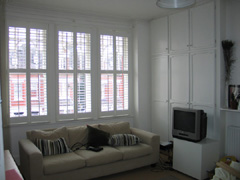 MDF shutters with 64mm louvres Highgate