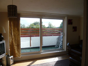 Vertical blind with Left-Hand stack and Left-Hand control installed in Archway North London