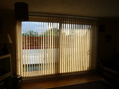 vertical blind on patio door Archway