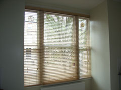 Canadian maple woodslat blinds fitted in tufnell park north london