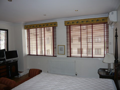 Real cherry wood venetian blinds fitted in Holland Park