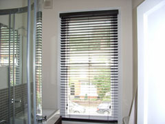 50mm hazel wood slat venetian blind fitted  in Highgate, North London