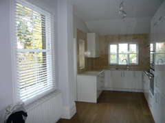 White 50mm wood slat venetians Finchley